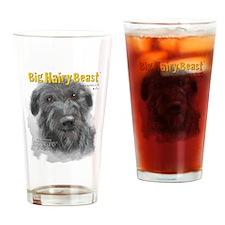 Big Hairy Beast label Drinking Glass