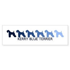 Kerry Blue Terrier (blue colo Bumper Bumper Sticker