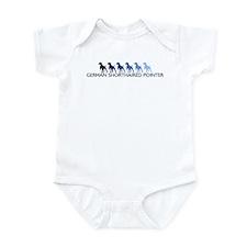 German Shorthaired Pointer (b Infant Bodysuit