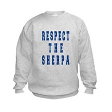 Respect the Sherpa Blue Sweatshirt