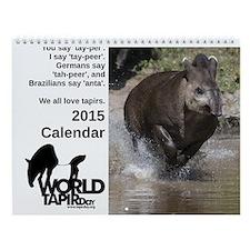2015 World Tapir Day Wall Calendar