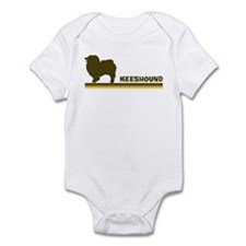 Keeshound (retro-blue) Infant Bodysuit