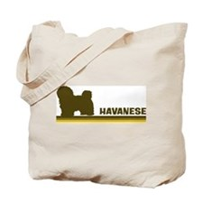 Havanese (retro-blue) Tote Bag