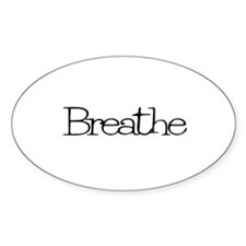 Breathe Oval Stickers