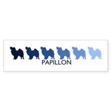 Papillon (blue color spectrum Bumper Bumper Sticker