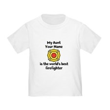 My Aunt Is The Worlds Best Firefighter T-Shirt