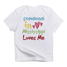 Cute Somebody mississippi loves me hometown Infant T-Shirt
