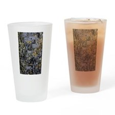 Obsidian and Lichen Drinking Glass