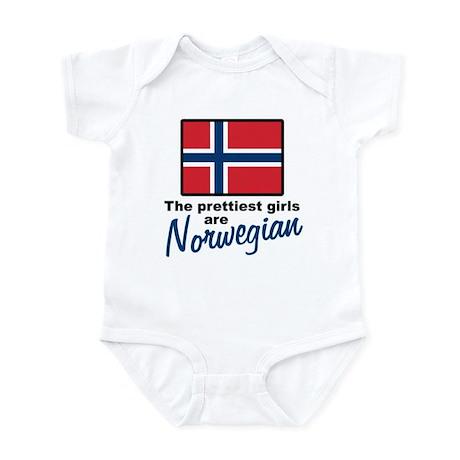 The Prettiest Girls are Norwegian Infant Bodysuit