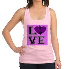 Pink Cheerleader Racerback Tank Top