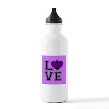 Pink Cheerleader Water Bottle