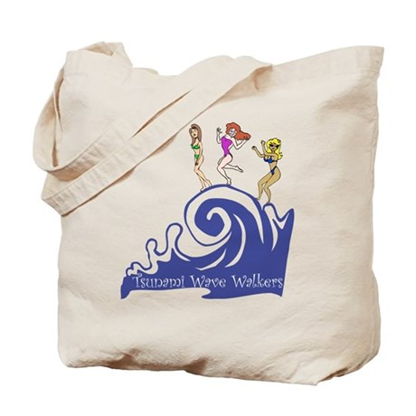 Tsunami Wave Walkers Tote Bag