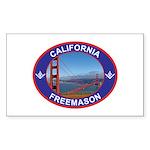 The California Freemason Rectangle Sticker