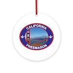 The California Freemason Ornament (Round)