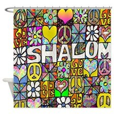 Psychedelic Shalom Shower Curtain