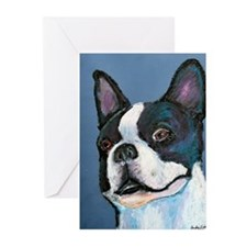 Unique Boston terrier artwork Greeting Cards (Pk of 20)