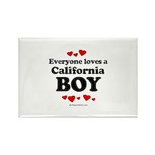 Everyone loves a California boy Rectangle Magnet