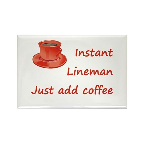 Instant Lineman Rectangle Magnet (10 pack)