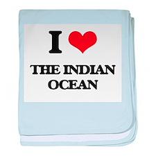 I Love The Indian Ocean baby blanket