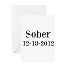 Personalizable Sober Greeting Cards