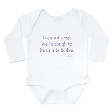 Cute Austen Long Sleeve Infant Bodysuit