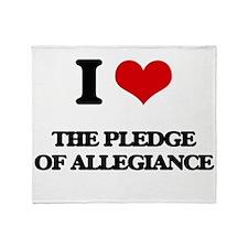 I Love The Pledge Of Allegiance Throw Blanket