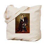 Lincoln's Doberman Tote Bag