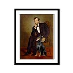 Lincoln's Doberman Framed Panel Print