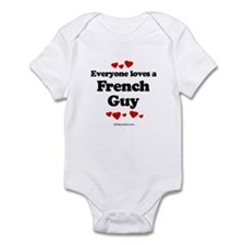 Everyone loves a French guy Infant Bodysuit
