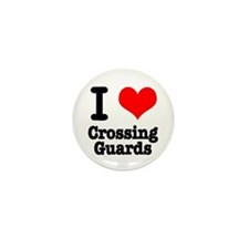 I Heart (Love) Crossing Guards Mini Button (100 pa