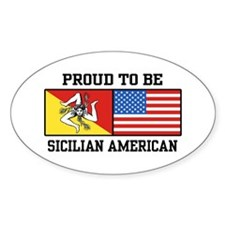 Sicilian American Oval Decal