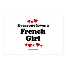 Everyone loves a French girl Postcards (Package of