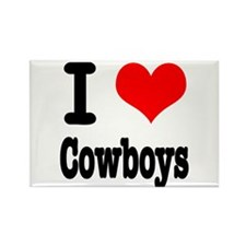 I Heart (Love) Cowboys Rectangle Magnet