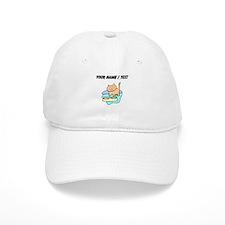 Custom Cat And Food Bowls Baseball Baseball Cap