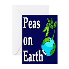 Peas On Earth (10 Greeting Cards)