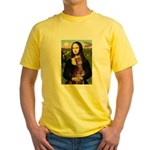 Mona's Red Doberman Yellow T-Shirt