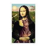 Mona's Red Doberman Sticker (Rectangle)