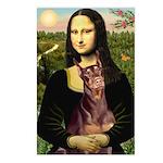Mona's Red Doberman Postcards (Package of 8)