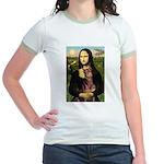 Mona's Red Doberman Jr. Ringer T-Shirt