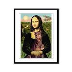 Mona's Red Doberman Framed Panel Print