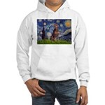 Starry / Red Doberman Hooded Sweatshirt