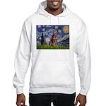 Starry / Red Doberman Hooded Sweatshirt