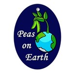 Peas On Earth (christmas tree ornament)