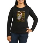 Windflowers / Dobie (#8) Women's Long Sleeve Dark