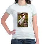 Windflowers / Dobie (#8) Jr. Ringer T-Shirt