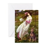 Windflowers / Dobie (#8) Greeting Cards (Pk of 10)