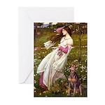 Windflowers / Dobie (#8) Greeting Cards (Pk of 10)