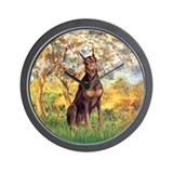 Spring / Doberman Wall Clock
