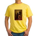 Lincoln's Red Doberman Yellow T-Shirt
