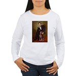Lincoln's Red Doberman Women's Long Sleeve T-Shirt